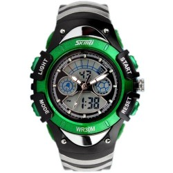 Skmei 0988 Kid's Quartz Watch-Green