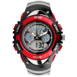 Skmei 0988 Kid's Quartz Watch-Red