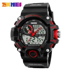 Skmei 1029 Men Digital/Analog Watch-Red