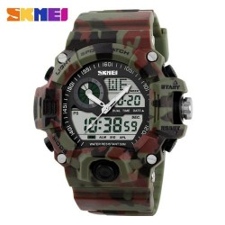 Skmei 1029 Men Digital/Analog Watch-Green Camouflage