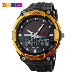 Skmei 1049 Men Quartz Watch-Gold