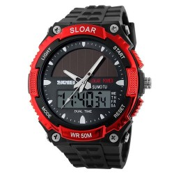 Skmei 1049 Men Quartz Watch-Red