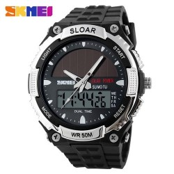 Skmei 1049 Men Quartz Watch-Silver