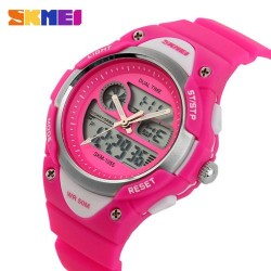 Skmei 1055 Kid's Quartz Watch-Pink