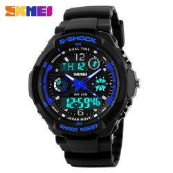 Skmei 1060 Kid's Quartz LED Watch-Blue