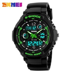 Skmei 1060 Kid's Quartz LED Watch-Green