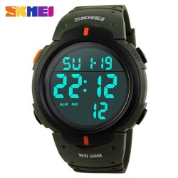 Skmei 1068 Men Sport Watch-Army Green
