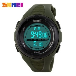 SKMEI 1074 Women Sport Watch-Army Green