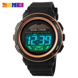 Skmei 1096 Men LED Digital Watch-Gold