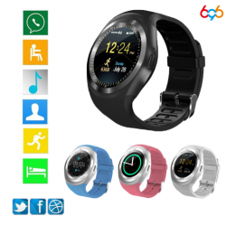 Unisex SmartWatch Touch Screen SIM Card Memory Card for IOS & Android