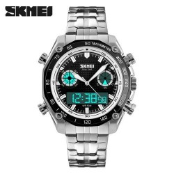 SKMEI 1204 Men Quartz-Black with white circle